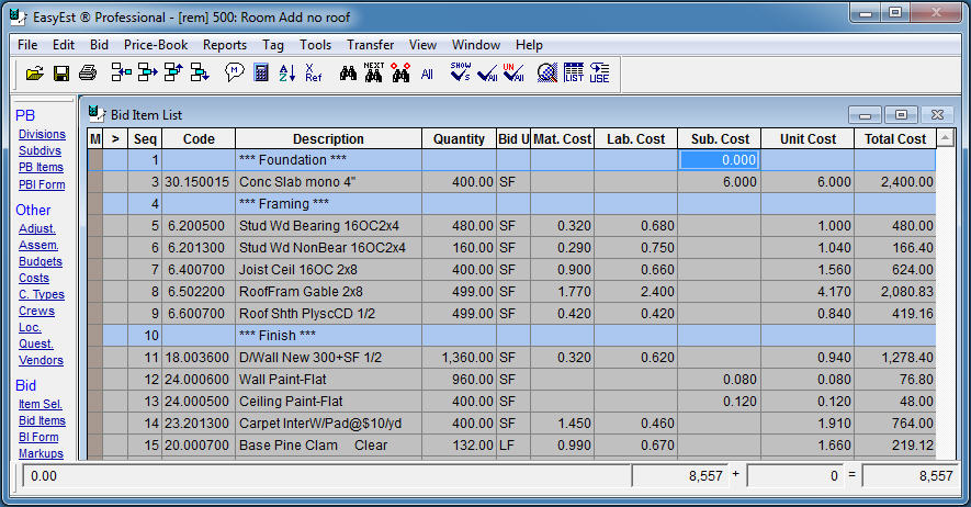 EasyEst Estimating Software - CSC Software